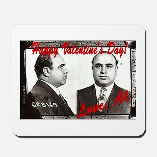 Al Capone Valentine Mousepad