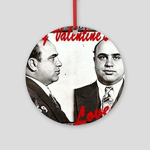 Al Capone Valentine Ornament (Round)