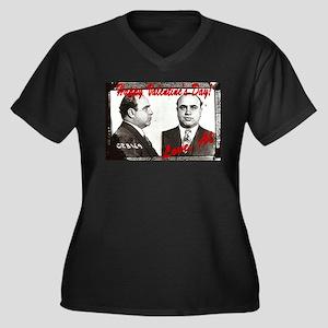 Al Capone Valentine Women's Plus Size V-Neck Dark