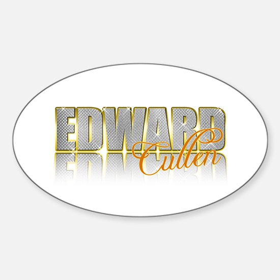 Sparkly Edward Oval Decal