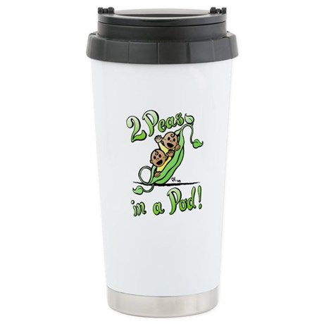Peas in a Pod! Stainless Steel Travel Mug