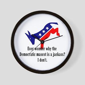 Democrat Jackass Wall Clock