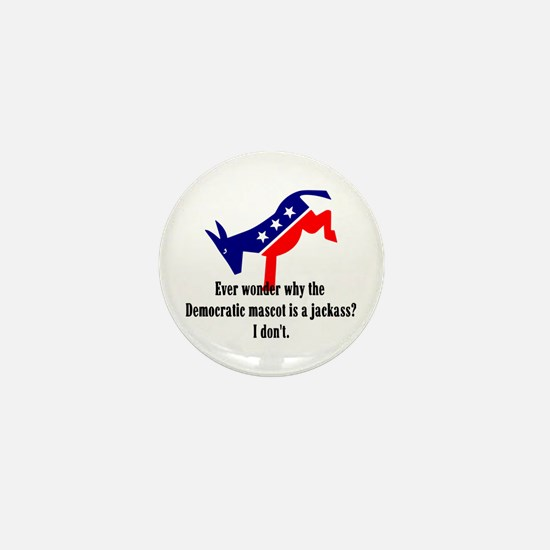 Democrat Jackass Mini Button