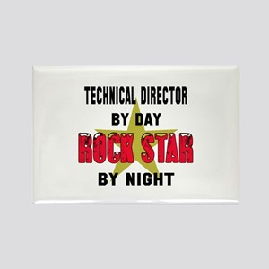Technical Director By Day, Rock S Rectangle Magnet