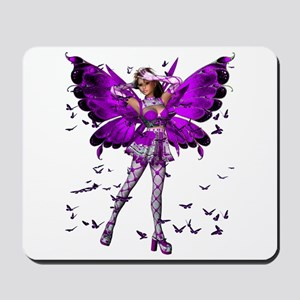 Butterfly Kisses Amethyst Mousepad