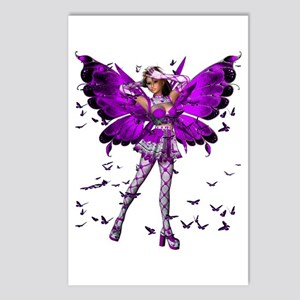 Butterfly Kisses Amethyst Postcards (Package of 8)