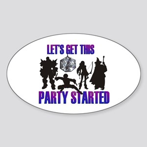 Party Started Sticker (Oval)