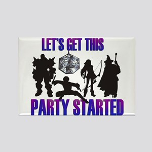 Party Started Rectangle Magnet
