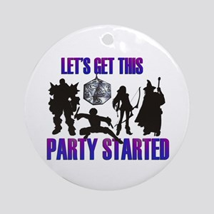 Party Started Ornament (Round)