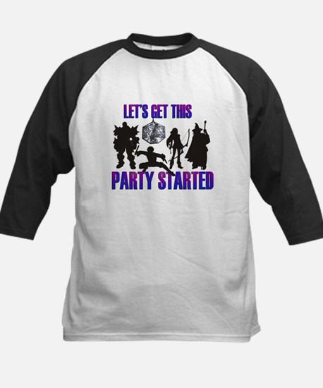 Party Started Kids Baseball Jersey
