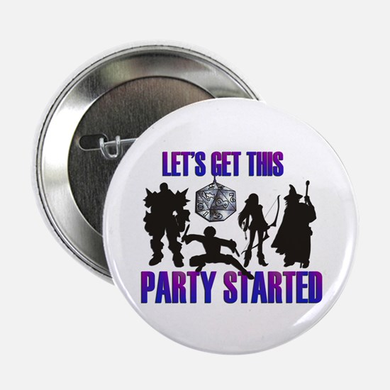 """Party Started 2.25"""" Button"""