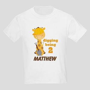 2nd Birthday Personalized Giraffe T-Shirt