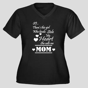She Calls Me Mom T Shirt Plus Size T-Shirt
