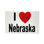 I Love Nebraska Rectangle Magnet (10 pack)