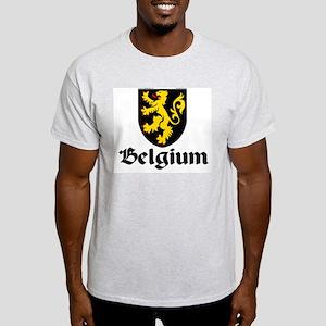 Belgium: Heraldic Ash Grey T-Shirt
