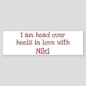 In Love with Niki Bumper Sticker