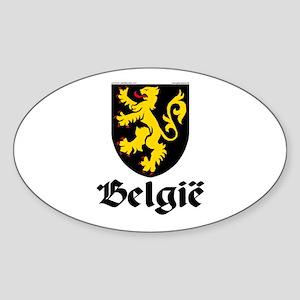 Belgium: Heraldic Oval Sticker
