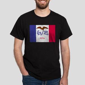 Beloved Iowa Flag Modern Styl Dark T-Shirt