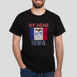 My Home Iowa Vintage Style Dark T-Shirt