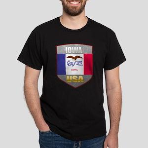 Iowa USA Crest Dark T-Shirt