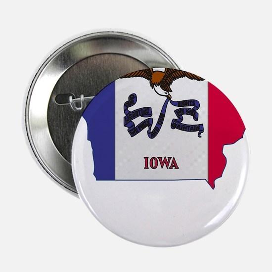 "Iowa Stripe Custom Design 2.25"" Button"