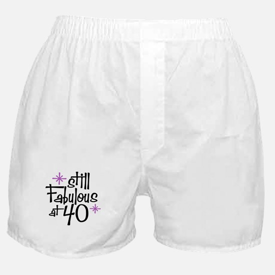 Still Fabulous at 40 Boxer Shorts
