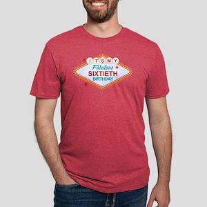 Las Vegas Birthday 60 Mens Tri-Blend Shirt T-Shirt