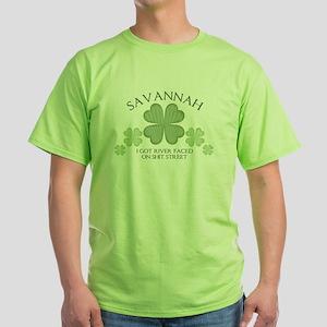I Got River Faced on Shit Str Green T-Shirt