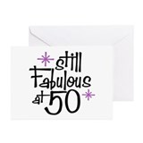 50th birthday Greeting Cards (10 Pack)