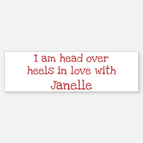 In Love with Janelle Bumper Car Car Sticker