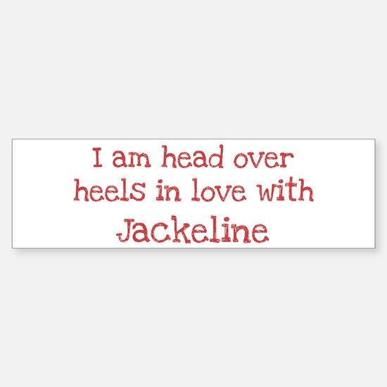 In Love with Jackeline Bumper Bumper Bumper Sticker