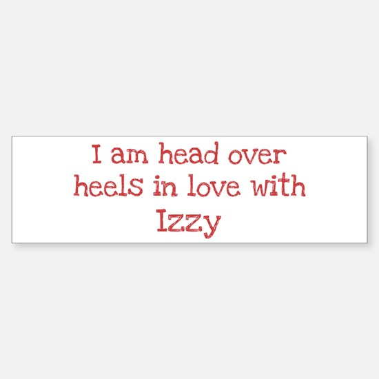 In Love with Izzy Bumper Car Car Sticker