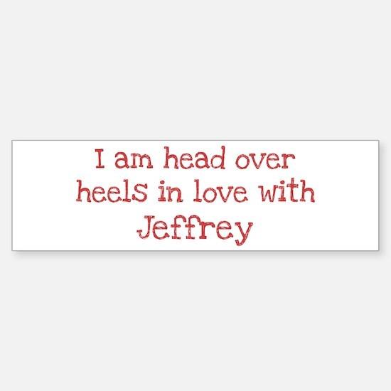 In Love with Jeffrey Bumper Bumper Bumper Sticker