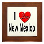 I Love New Mexico Framed Tile