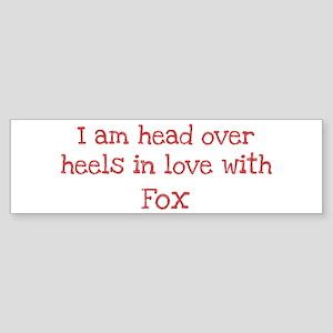 In Love with Fox Bumper Sticker