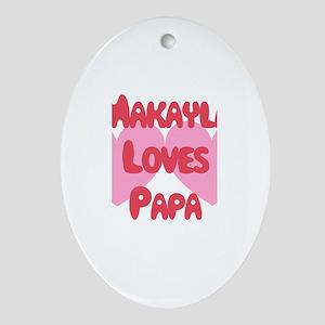 Makayla Loves Papa Oval Ornament