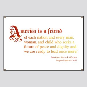 America is a Friend Banner