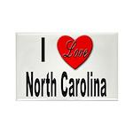 I Love North Carolina Rectangle Magnet (10 pack)