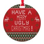 Ugly Sweater Round Ornament