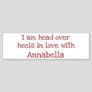 In Love with Annabella Bumper Sticker