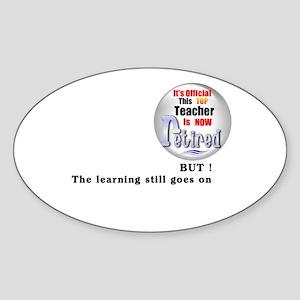 Retired Teacher. Oval Sticker