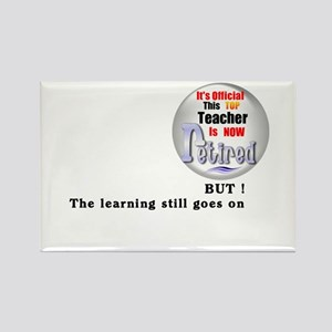 Retired Teacher. Rectangle Magnet