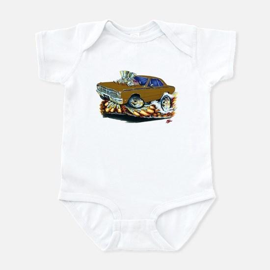 Dodge Dart Brown Car Infant Bodysuit