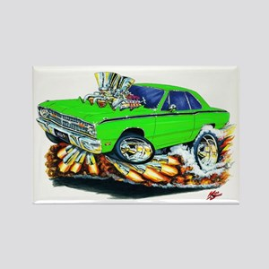Dodge Dart Lime Car Rectangle Magnet