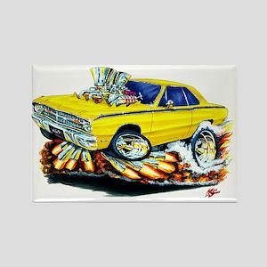 Dodge Dart Yellow Car Rectangle Magnet