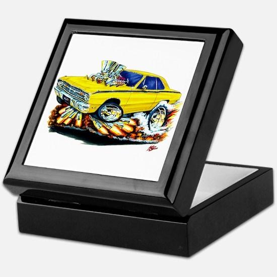 Dodge Dart Yellow Car Keepsake Box
