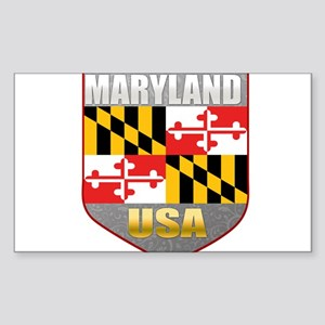 Maryland USA Crest Rectangle Sticker