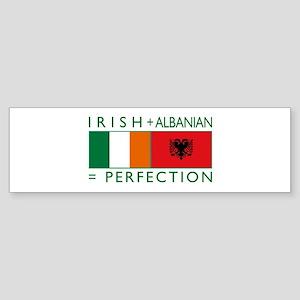 Irish Albanian heritage flag Bumper Sticker