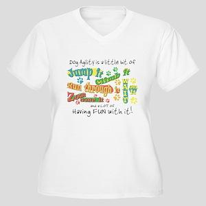 Dog Agility Words Women's Plus Size V-Neck T-Shirt