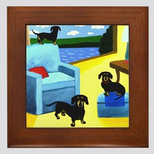 Wieners At Home Framed Tile